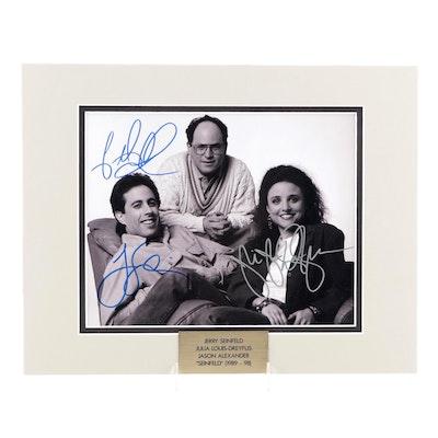 "Jerry Seinfeld, Julia Louis-Dreyfus, and Jason Alexander Signed ""Seinfeld"" Print"