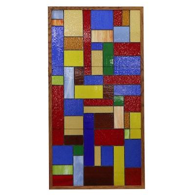 Geometric Stained Glass Window Panel