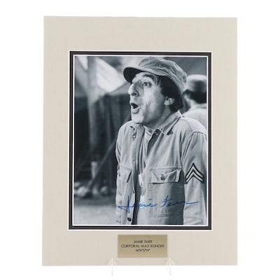 """Jamie Farr """"Corporal Max Klinger"""" Signed M*A*S*H  Television Series Photo Print"""