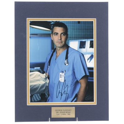 "George Clooney ""Dr. Doug Ross"" Signed ""E.R."" 1990s Television Drama Print, COA"