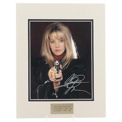 "Heather Locklear Signed ""TJ Hooker"" Television Series Photo Print, COA"