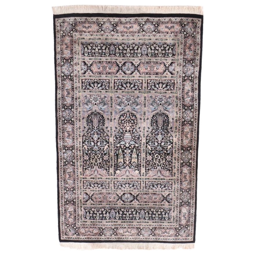 3'2 x 5'5 Hand-Knotted Turkish Kayseri Prayer Rug