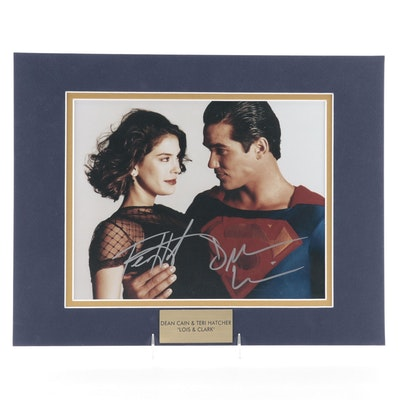 "Dean Cain & Terri Hatcher Signed ""Lois & Clark"" Television Series Photo Print"