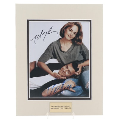 """Paul Reiser and Helen Hunt Signed """"Mad About You"""" Television Series Photo Print"""