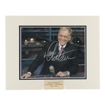 """David Letterman Signed """"The Late Show"""" Photo Print, COA"""