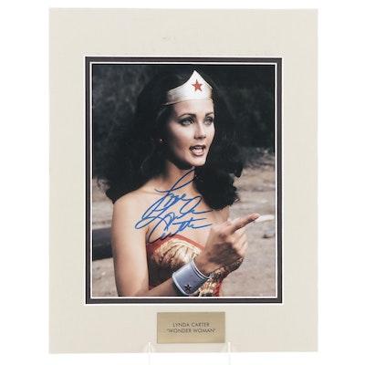 "Lynda Carter Signed ""Wonder Woman"" Television Series Photo Print, COA"