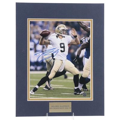 Drew Brees Signed New Orleans Saints NFL Football Photo Print, COA