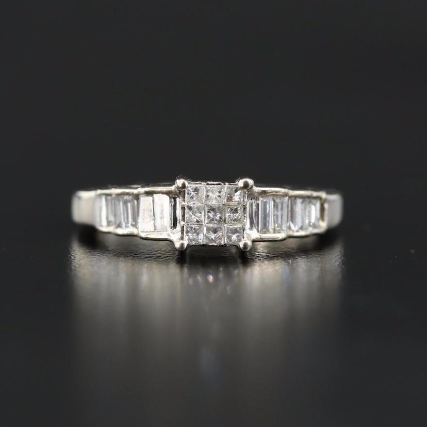 14K 0.66 CTW Diamond Step Ring