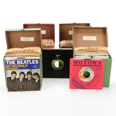 The Beatles, Leslie Gore, Elton John, The Kinks and Other 45 RPM Records