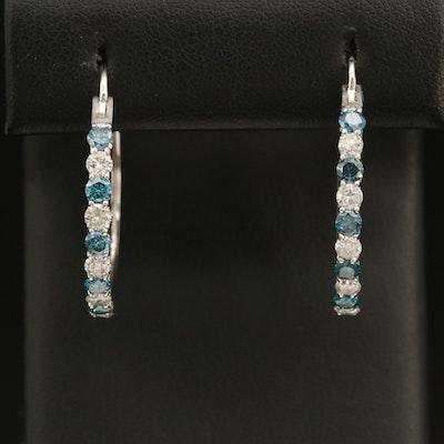 14K 2.00 CTW Diamond Hoop Earrings