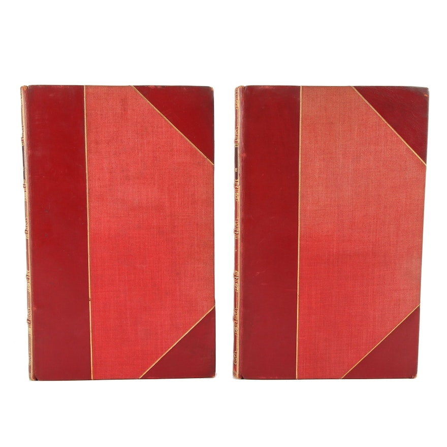 """""""The Dramatic and Poetical Works of J. Burgoyne"""" Two-Volume Set, 1807"""