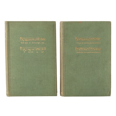 """""""The Mediaeval Stage"""" Two-Volume Set by E. K. Chambers, 1903"""