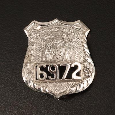Sterling Silver City of New York Police Brooch