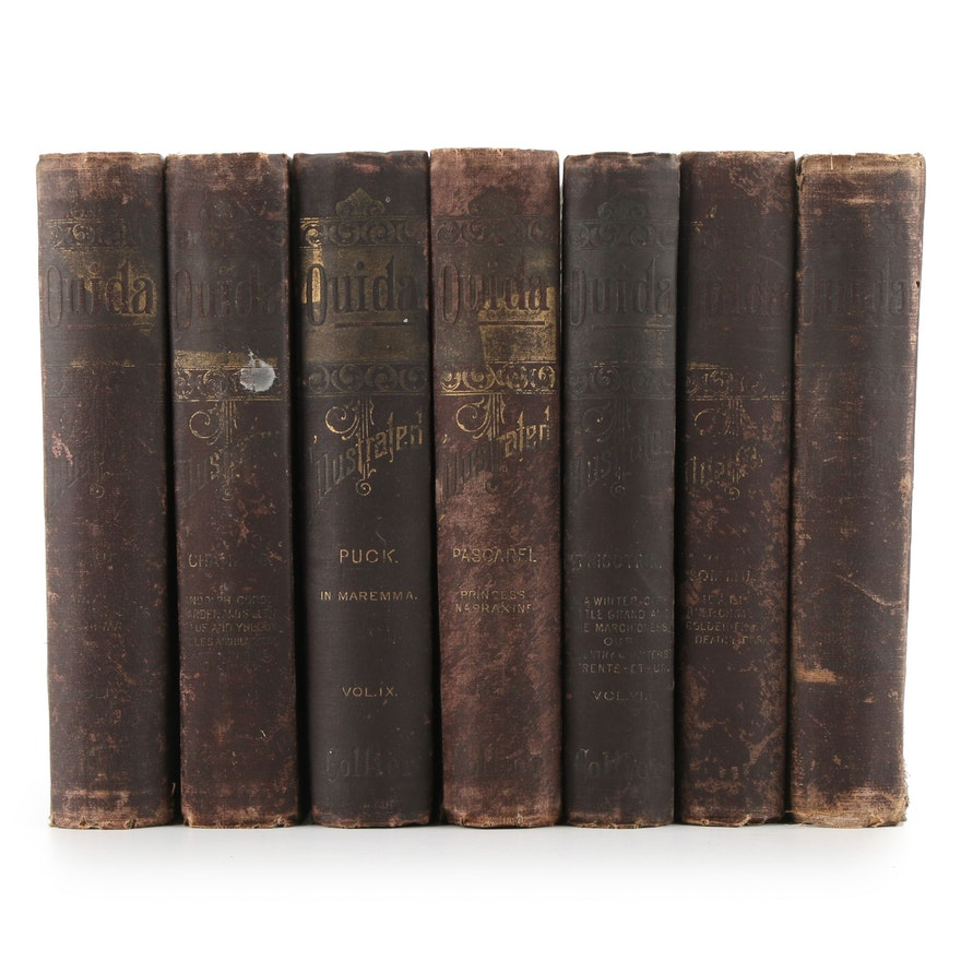 Illustrated Ouida Fiction and Short Story Partial Book Set, 1889