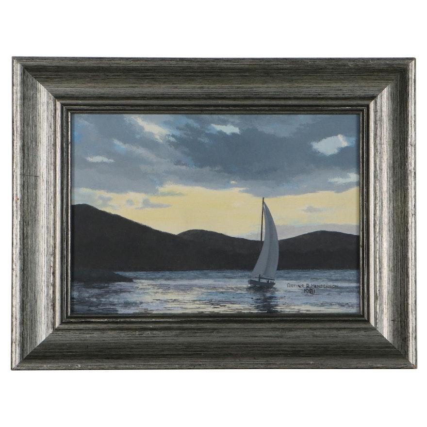 Arthur Henderson Nautical Oil Painting, 1981