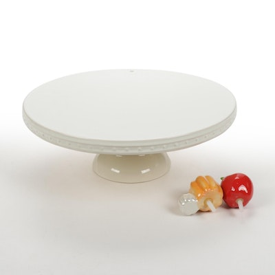 Nora Fleming Stoneware Cake Plate and Accessories