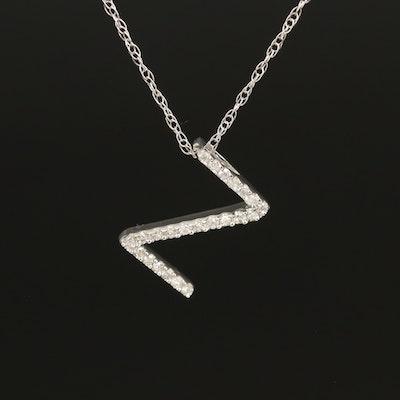 """14K 0.08 CTW Diamond """"Z"""" Necklace"""