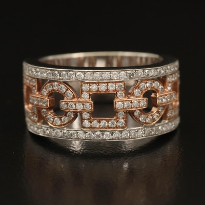 14K 0.75 CTW Diamond Link Ring