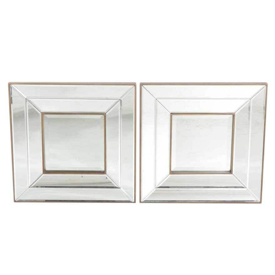 Square Beveled Framed Accent Mirrors