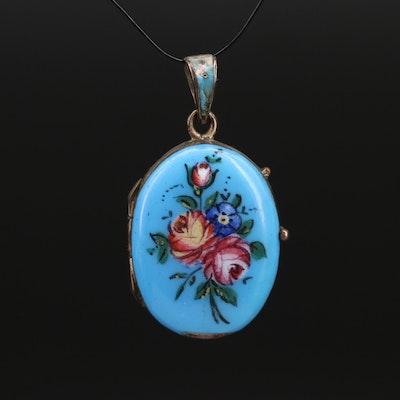 Vintage Floral Enamel Locket