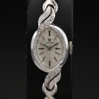 14K Omega Diamond Wristwatch