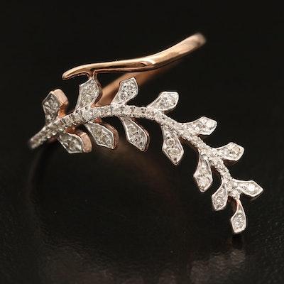 Kallati 9K 0.15 CTW Diamond Laurel Branch Ring