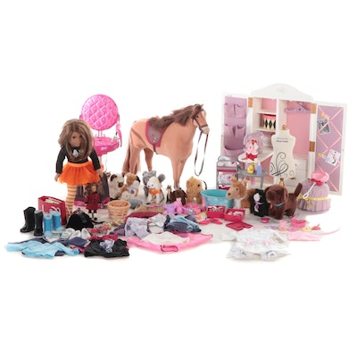 American Girl Doll with Pets, Accessories, Furniture, Clothing and Others