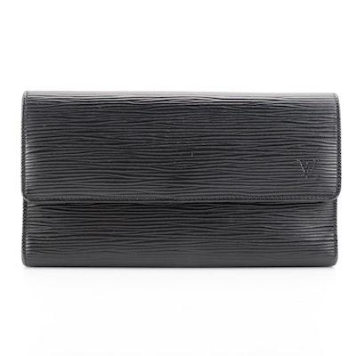 Louis Vuitton Porte-Trésor International Organizer in Black Epi Leather