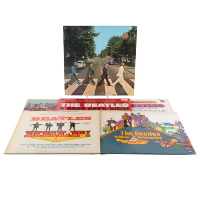 """The Beatles """"Help!"""", """"Yellow Submarine"""", """"Abbey Road"""" and Other Vinyl Records"""