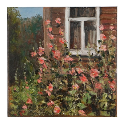 "Garncarek Aleksander Landscape Oil Painting ""Malwy,"" 2021"