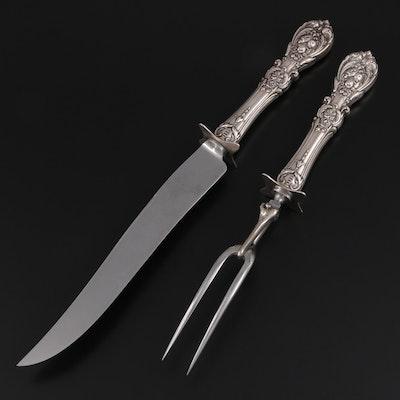 "Reed & Barton ""Francis I"" Sterling Silver Handled Carving Set"