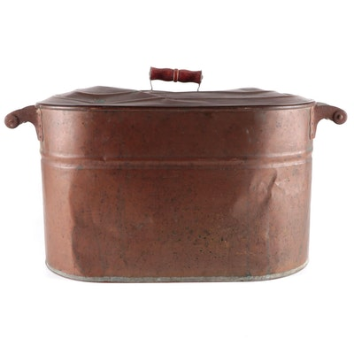 Copper Boiler with Lid, Early 20th Century