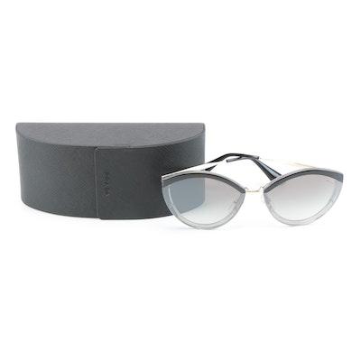 Prada SPR07U Modified Cat Eye Sunglasses with Case