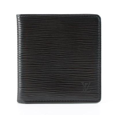 Louis Vuitton Porte-Billets Bifold Wallet in Black Epi Leather