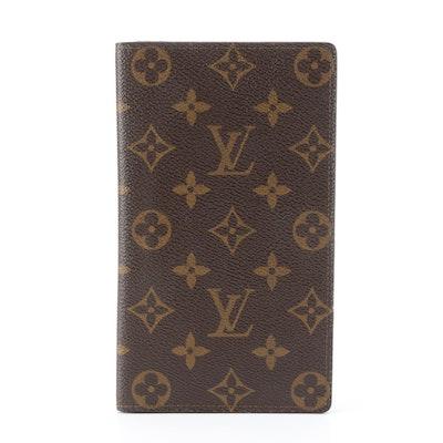 Louis Vuitton Porte Chéquier Wallet in Monogram Canvas