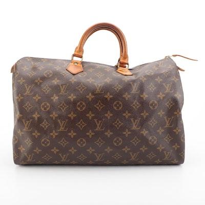Louis Vuitton Malletier Speedy 40 in Monogram Canvas and Vachetta Leather