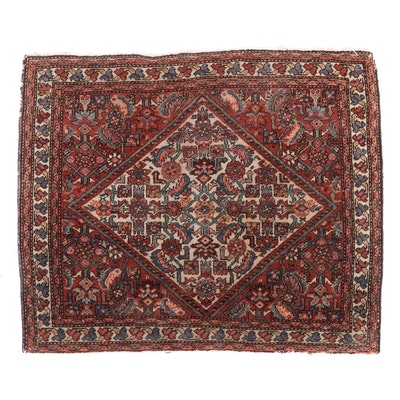 2'6 x 2'1 Hand-Knotted Northwest Persian Herati Accent Rug