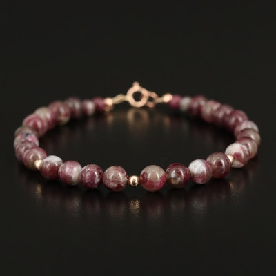 Tourmaline Beaded Bracelet with 14K Findings