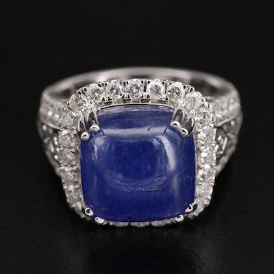 14K 11.26 CT Tanzanite and 1.55 CTW Diamond Ring
