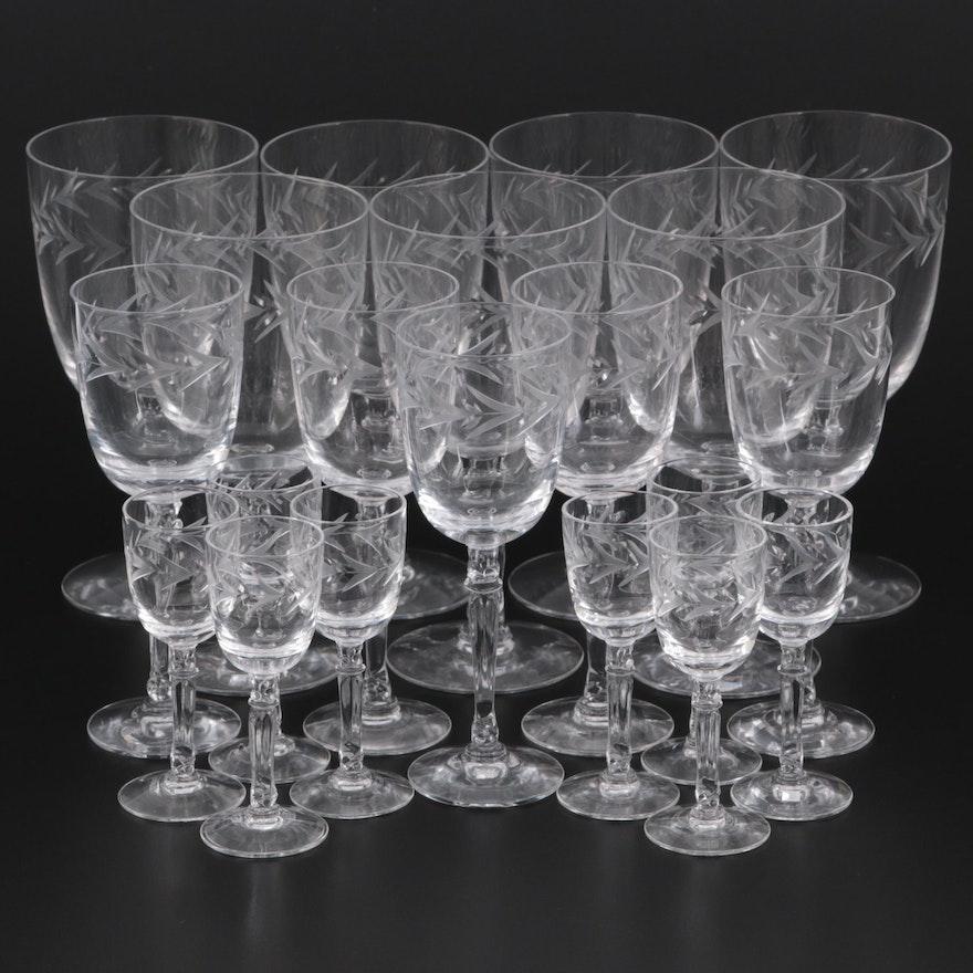 """Fostoria """"Holly Clear"""" Crystal Stemware, 1942-1980"""