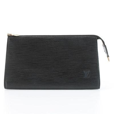 Louis Vuitton Pochette in Black Epi Leather