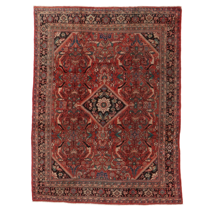 9'4 x 12'4 Hand-Knotted Persian Mahal Room Sized Rug