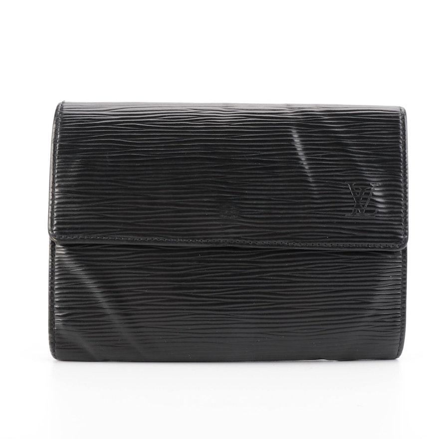 Louis Vuitton Porte-trésor Étui Papiers in Noir Epi Leather