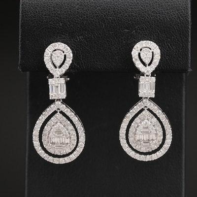 14K 2.95 CTW Diamond Earrings