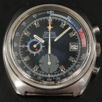 1972 Omega Seamaster Yachting Chronograph Stainless Steel Automatic Wristwatch