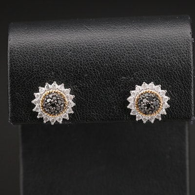 14K 0.95 Diamond Stud Earrings