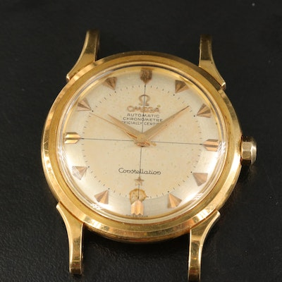 1956 Omega Constellation Deluxe 18K Yellow Gold Automatic Wristwatch