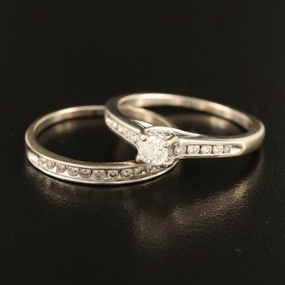 14K 0.40 CTW Diamond Past, Present, Future Ring with 10K 0.18 CTW Diamond Band