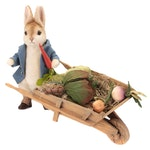 "R. John Wright ""Peter Rabbit with Garden Wheelbarrow"" Plush Rabbit"