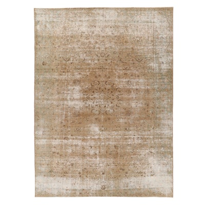 9'1 x 12'5 Hand-Knotted Persian Overdyed Room Sized Rug